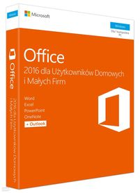MICROSOFT OFFICE 2016 Home and Business BOX PL PKC