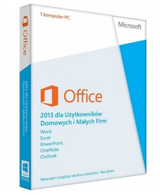 MICROSOFT OFFICE 2013 Home and Business BOX PL PKC