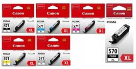 6x TUSZ Canon PGI-570 XL+ CLI-571 XL CMYKGY MG7750