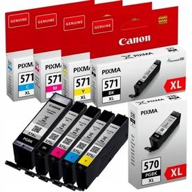 5x TUSZ PGBK 570XL 571XL CANON PIXMA MG5750 MG5751