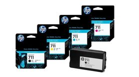 4x Tusz org. HP 711 XL Black +HP 711CMY T120 T520