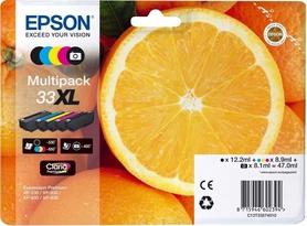 5x tusz Epson 33XL CMYK + PBk T3357 XP635 XP830