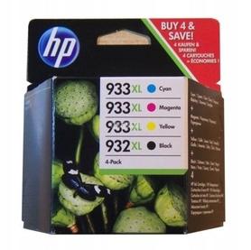 4x org. HP 932XL BK + 3x 933XL CMY 6100 6600 6700