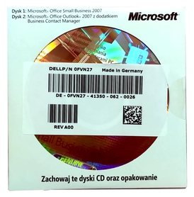 Microsoft Office 2007 Small Business SBE OEM CD PL