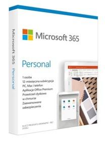 MICROSOFT 365 Personal BOX PL dla 5 urządzeń PC/MAC/iOS/And