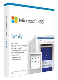MICROSOFT 365 Family BOX PL dla 30 urządzeń PC/MAC/iOS/And