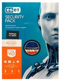 ESET Security Pack 3 komputery + 3 urządzenia mobilne 1 ROK KONTYNUACJA BOX PL