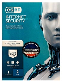 ESET Internet Security 1 dowolne urządzenie 2 LATA NOWA INSTALACJA BOX PL